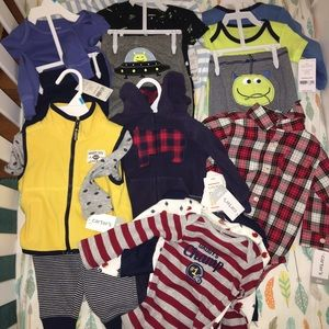 Carters boys 6 month lot of clothes all NWT